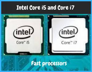 intel processor i5 and i7